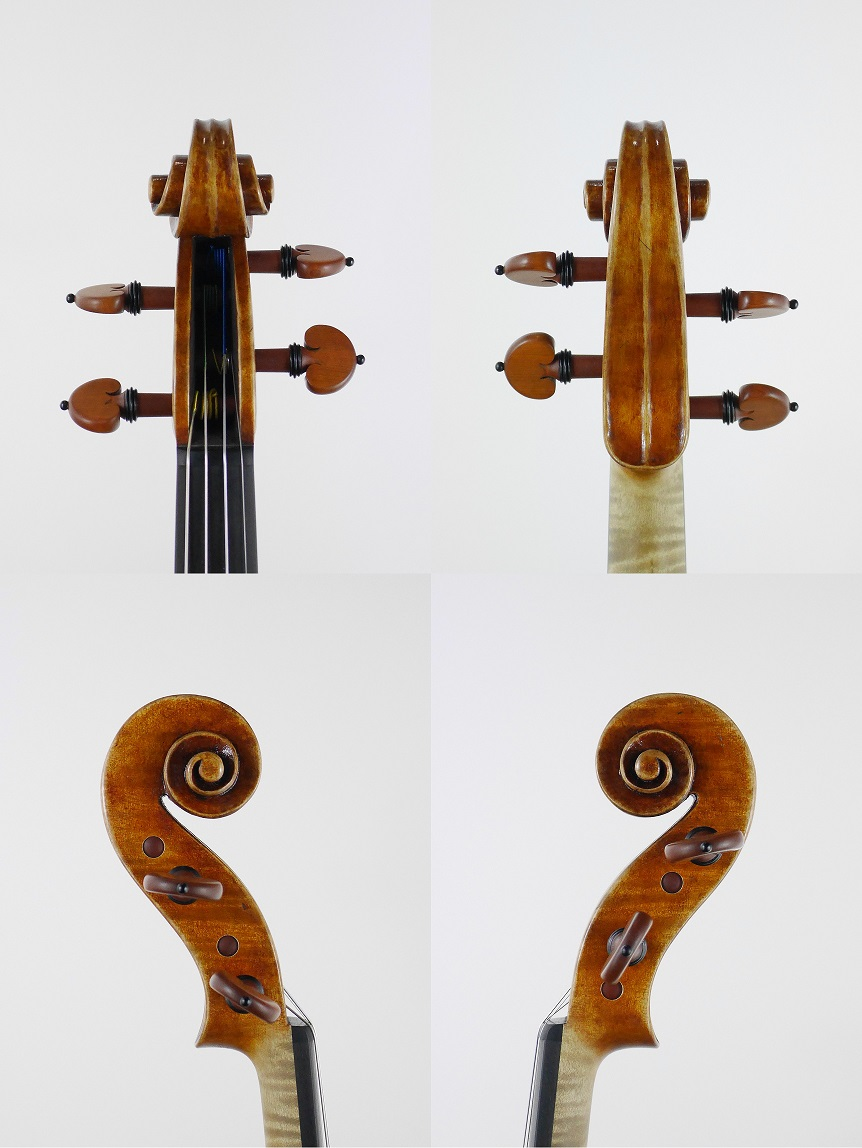 3/4 size violin scroll